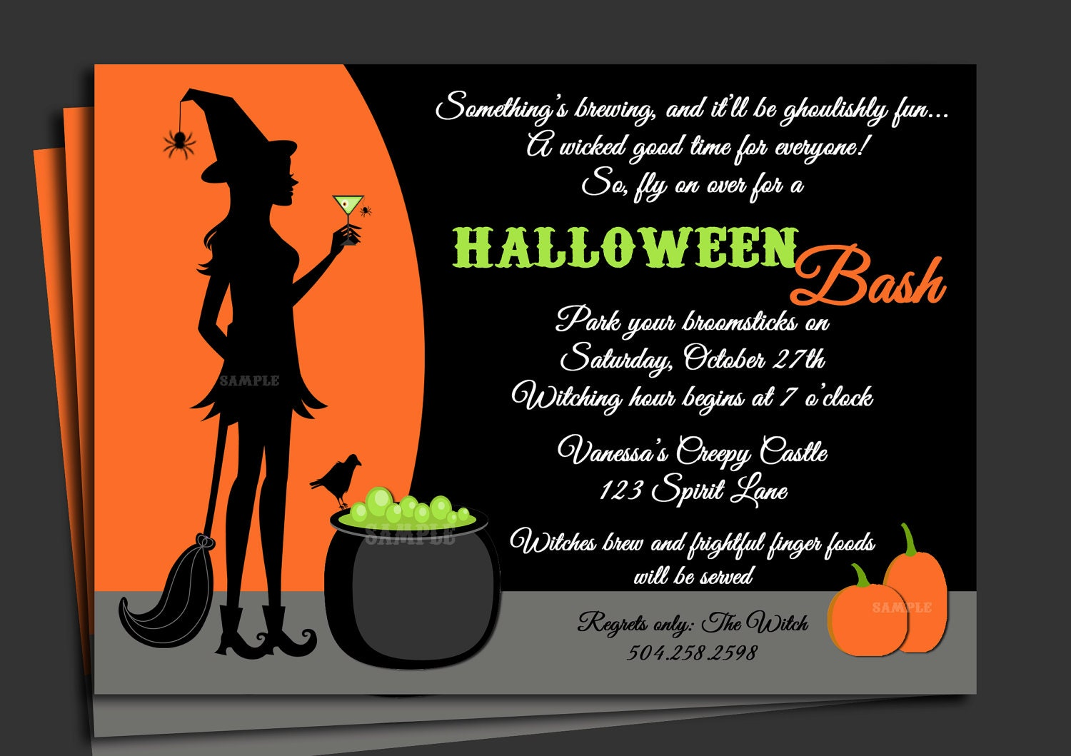 Sample halloween invitation yeniscale sample halloween invitation stopboris Gallery