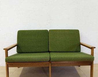 Vintage Danish Modern Loveseat / Sofa by Illum Wikkelso - Free NYC Delivery!