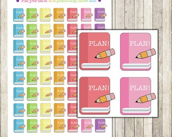 Planning / time to plan printable planner stickers for Erin Condren Lifeplanner, Filofax, Happy Planner, scrapbooking / INSTANT DOWNLOAD