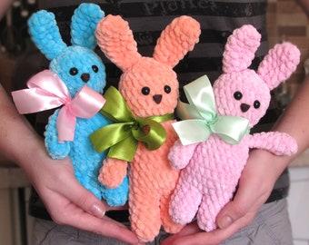 Amigurumi bunny, plush bunny, handmade soft plush toy , cute stuffed animal, easter bunny plush, baby shower gift, personalized bunny