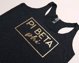 Pi Beta Phi Sorority Tank Top, Pi Beta Phi Shirt, Pi Beta Phi Gift, Big Little Sorority Gift, Bid Day Shirt, Pi Phi Sorority, Racerback Tank