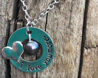 Pick a pearl love you more necklace