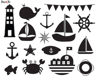 Nautical SVG,Nautical Silhouette svg files,Sailboat SVG,Nautical Sea SVG,nautical vector,Nautical svg cut file,Lighthouse svg,anchor svg