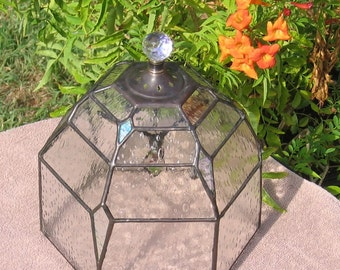 Stained Glass Cloche with Hummingbird PDF Instructions and Pattern