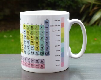 Periodic Table of the Chemical Elements Educational Mug