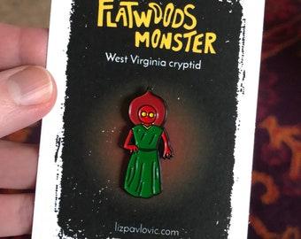 Flatwoods Monster enamel pin