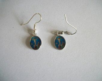 Jesus on Cross dangle earrings