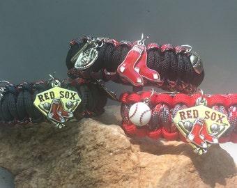Boston Red Sox Paracord Bracelet, 3 bracelet choices