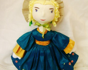 Beth, a Waldorf inspired, Victorian dressed doll