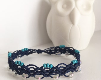 Macrame adjustable bracelet
