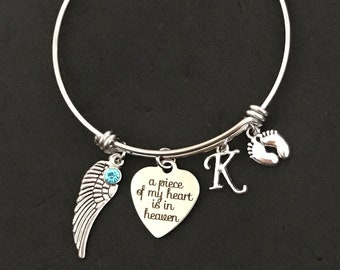 Personalized Loss of Baby Bangle Loss of Baby Bracelet Miscarriage Gift