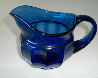 Blue Cobalt Glass Beautiful Water Pitcher