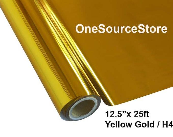 "HTV Textile Foil* / 12.5 ""x 25 ft / Yellow Gold / H4"