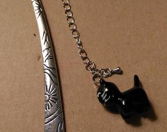 Bookmark metal black silver