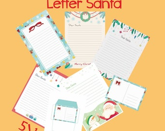 Letter from santa kit with envelope template red christmas letter to santa kit set with envelope template santa claus christmas instant download spiritdancerdesigns