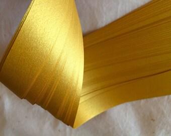 Clearance* Shimmer Fine Gold~ Moravian German Froebel Star Paper  (52 strips)