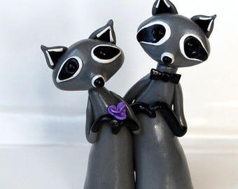 Raccoon Wedding Cake Topper