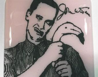 John Waters Fused Glass Coaster, Director Coaster, Icon Coaster