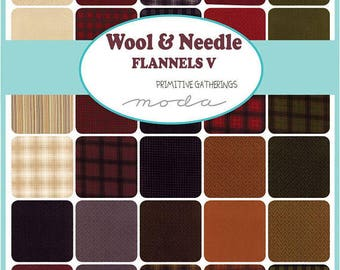 Wool and Needles Flannels V - Layer Cake