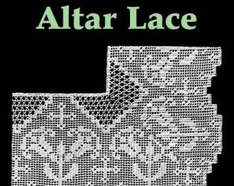 Lily Altar Lace Filet Crochet Pattern