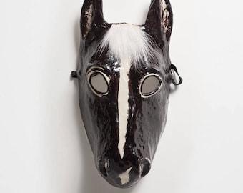Black horse mask