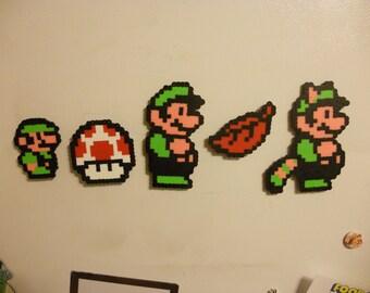 Super Mario Bros 3 Bead Sprite Magnet set! Hand made to order!