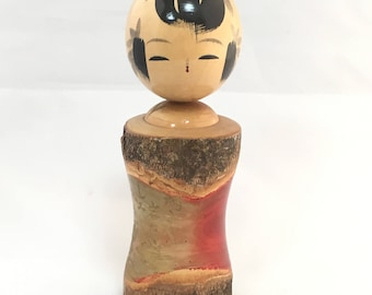 Kokeshi Bobble Head, Kokeshi Doll, Wooden Doll, Japanese Doll, Antique Kokeshi Doll, Antique Doll, Vintage Japanese Doll, Asian Decor