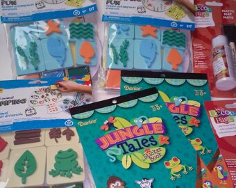 Rainy Day Crafting Kit - Stickers/Stamps/Posters/Decopage - Ages 3 and Up!!!