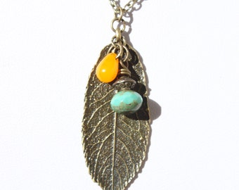 Leaf Pendant Necklace Boho Necklace Pendant Bohemian Necklace Bohemian Jewelry Boho Jewelry Leaf Necklace gift for her Gift for women