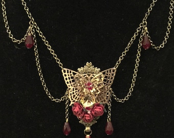 Madame Butterfly Necklace Macabre Gothic Victorian Steampunk