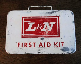 Vintage L & N Metal First Aid Kit