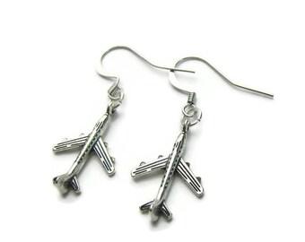 Airplane Earrings, Airplane Charm Earrings, Plane Earrings, Travel Earrings,Travel Charm Earrings,Traveler Earrings,Travel Jewelry