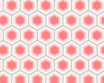 Bolt End Tula Pink Bumble Honeycomb Jade Quilting cotton /Fabric Canada