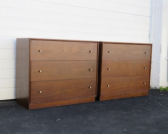 Mid Century Modern Pair of Large Nightstands Small Dressers by Ramseur 8933