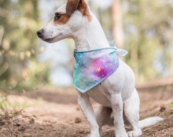 Classic dog bandana, Galaxy dog bandana, reversible dog bandana, puppy bandana, dog scarf, Space dog bandana, Galaxy pet bandana, Pet scarf