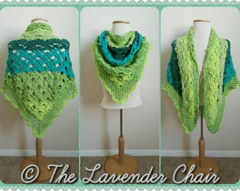 Gemstone Lace Shawl Crochet Pattern *PDF DOWNLOAD ONLY* Instant Download
