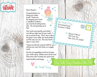 INSTANT DOWNLOAD   EDITABLE   Tooth Fairy Miniature Letter   Tooth Fairy Certificate   Tooth Fairy Note   Tooth Fairy Printable Tooth Chart