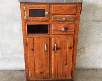 1940's Wood Medical Cabinet (86WEAD)