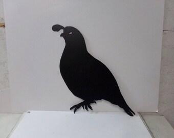 Quail 001 Metal Wildlife Wall Yard Art Silhouette