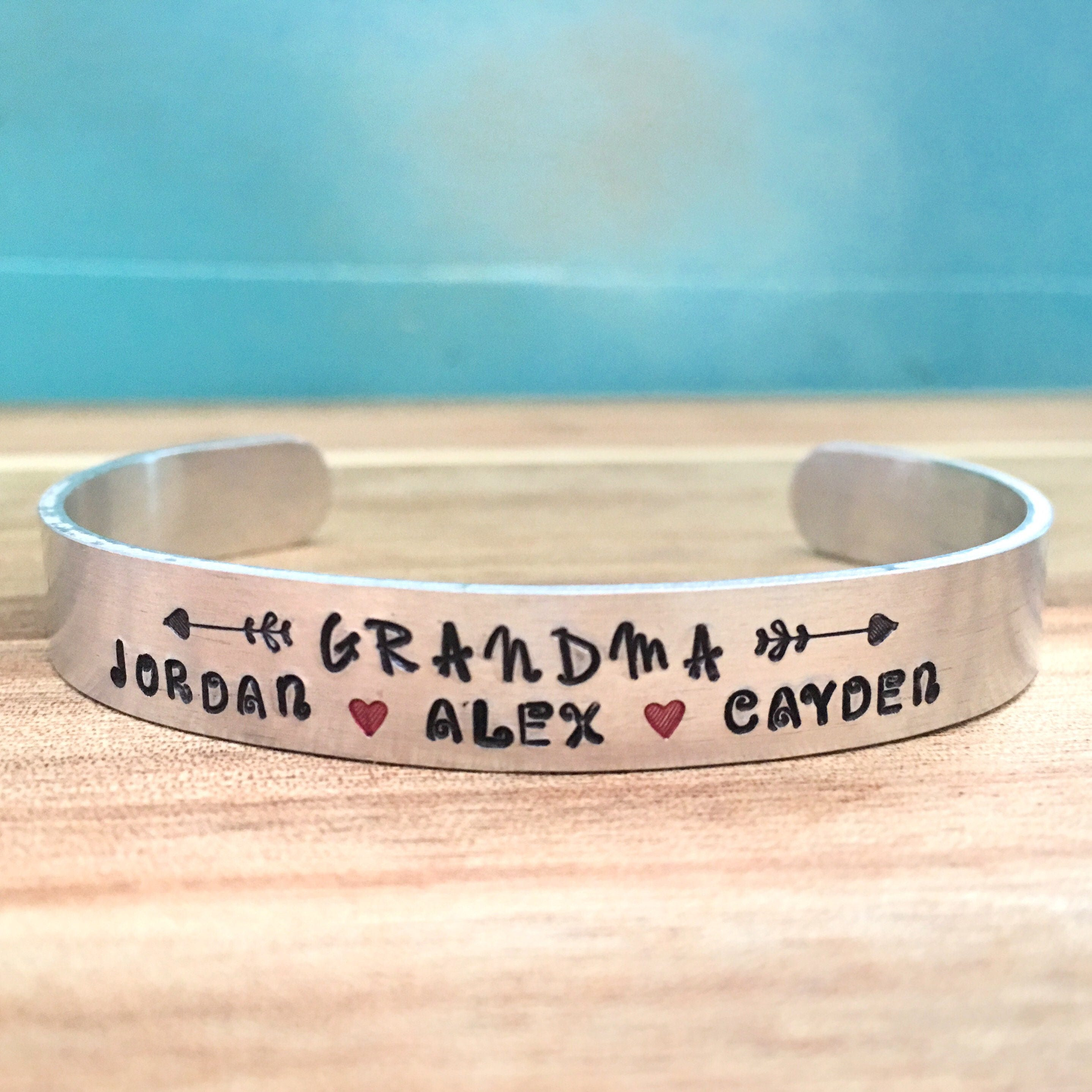 grandchild mothers grandma personalized zoom day kvjn listing il cuff for fullxfull bracelet gift