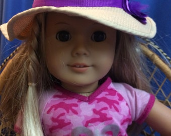 Cute Hat,  fits my life, American Girl. 18 inch doll accessories, Spring