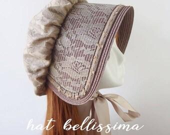 SALE  Women's straw bonnet  hatbellissima