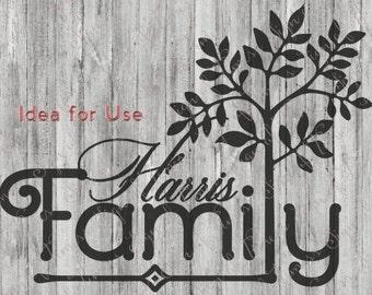 Family Tree, Family Tree Sign, Family Tree SVG, PNG, DFX, Eps, Silhouette, Cameo, Cricut, Vinyl, Cutting Machine, Cutting File, Cut File