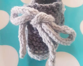 Baby Knitted Boat Shoes