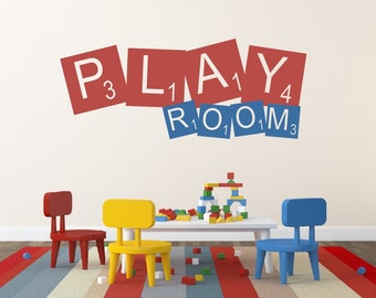 Playroom Wall Decal - Childrens Decor Vinyl Wall Decal - Playroom Decor - Play Room Wall Decor - Nursery Wall Decor Vinyl Lettering