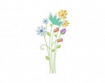 Meadow Flowers Machine Embroidery Design