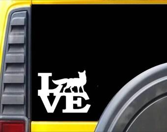 Fox Love Window Decal Sticker *H366*