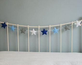 Star Garland - felt star garland - star bunting - felt garland - nursery spdecor - children's decor - handmade - MADE TO ORDER