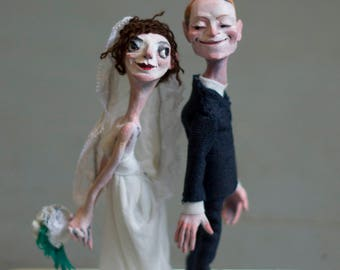 Personalized Wedding Cake Topper - Made to order