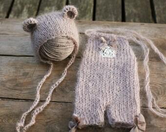 Newborn hat, Newborn romper, Newborn set, Flower accent